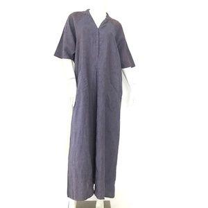 FLAX by JEANNE ENGELHART 100% linen maxi dress L